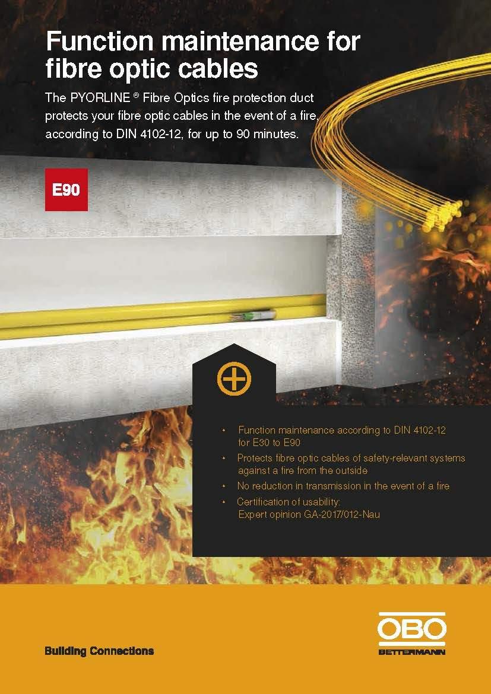 Protección contra fuego de Sistemas de Fibra Optica
